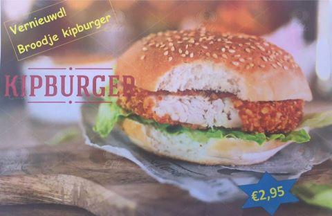 Actie: broodje kipburger
